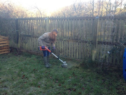Testing out the new strimmer