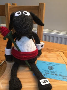 Second place for my hand knitted sheep